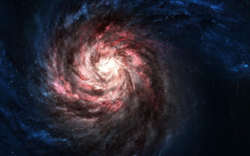 Au centre du vortex, le point zéro. Atome ou galaxie ? C'est kif-kif !